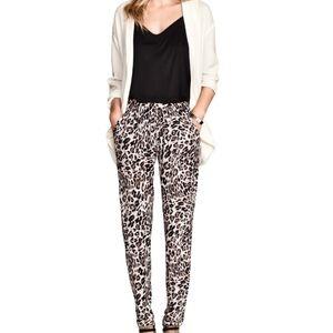 Leopard Print Trouser Jogger Pants